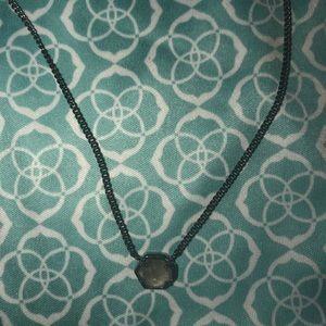 "Kendra Scott gunmetal ""Mabel"" necklace"